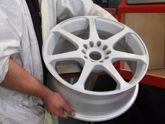 Wheel now reading for coating.